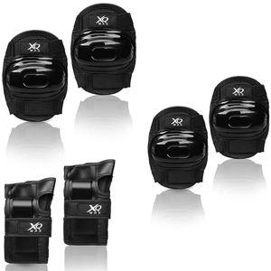Protektoren Set Kinder Schoner Knie Handgelenk Ellenbogen Schutzausrüstung, Größe:Größe L