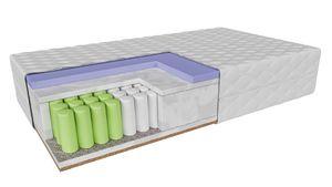 Taschenfederkernmatratze Krotona (90x200cm) H2-H3 mittelweich-mittelhart,  VISCO thermoplastischer Schaum und Kokos