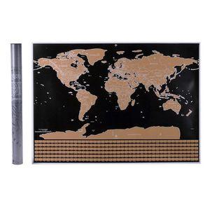 Scratch Off Map interaktive Urlaub Poster World Travel Karten Poster loeschbare Kupferfolie Wandaufkleber personalisierte Journal Log mit Staaten und Hauptstadt (42X30)