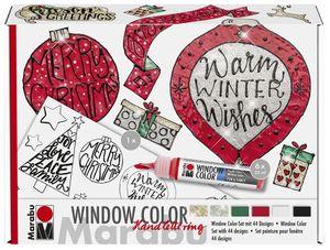 Marabu Window Color Handlettering Xmas Set 6 x 25 ml