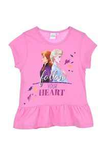 Frozen - Die Eiskönigin T-Shirt Mädchen Sommer Shirt , Farbe:Pink, Größe:110