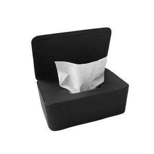 Tissue Aufbewahrungsbox Feuchttücherbox Kosmetiktücherbox Tuchbox Tuchspender mit Deckel ,Schwarz