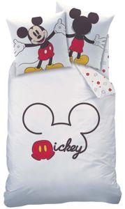 Disney Mickey-Mouse Renforcé-Bettwäsche 135 x 200 cm