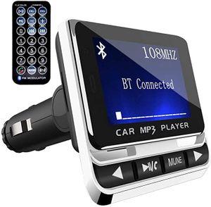 Bluetooth FM-Sender, kabelloser Autoradio-Adapter, Freisprecheinrichtung mit USB-Autoladegerät, 3,5-mm-AUX- und microSDHC-Kartensteckplatz für iPhone X, 8, Samsung S8, MP3-Player für Autos
