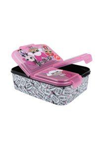 L.O.L. Suprise LOL Kinder Premium Brotdose Lunchbox Frühstücks-Box Vesper-Dose mit 3 Fächern