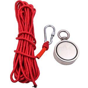 500KG Neodym Doppelseit Magnet Bergemagnet Suchmagnet + 10m Seil für das Magnet-Fischen
