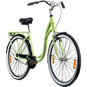 Galano Summer 28 Zoll Singlespeed Hollandrad Damenrad 700c Fixie Fahrrad Single Speed Bike Fixed Gear, Farbe:pastellgrün, Rahmengröße:48 cm