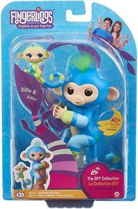WowWee 3541 - Fingerlings - BFF Äffchen Billie & Aiden, blau/grün