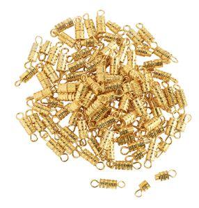 100 Schraubverschlüsse, 3,8mm, VBS Großhandelspackung Goldfarbe