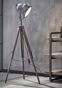 Tripod Stehleuchte FLORIS, Industrial Style Vintage Grey