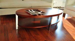 Design Couchtisch Tisch O-111 Kirschbaum Kirsche oval Carl Svensson