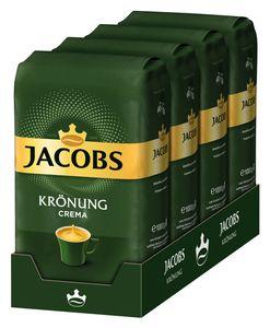 JACOBS Krönung Crema Kaffee Ganze Bohne 4 x 1 kg Kaffeebohnen