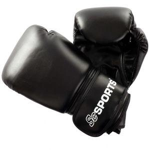 ScSPORTS® Boxhandschuhe 14 oz Kunstleder schwarz, mit hohem Tragekomfort, Training Gloves für Boxen und Kampfsport