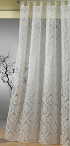Gardine Schlaufenschal Barock transparent Flock Ornamente natur Vorhang Typ264