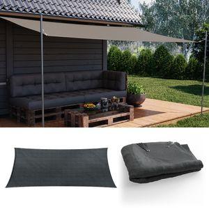 OSAKR Sonnensegel Rechteck 2x4m Anthrazit Sonnenschutz Windschutz UV-Schutz HDPE