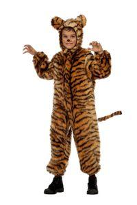 WIL - Kinder Kostüm Tiger Tigerkostüm Karneval Fasching Gr.140