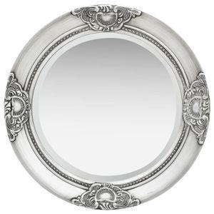 vidaXL Wandspiegel im Barock-Stil 50 cm Silbern