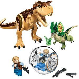 Großes Jurassic Park Set Spielzeug Rex Indominus Dinosaurier Figur Bausteine,Tierfiguren,77056