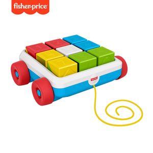 Fisher-Price Bausteinwagen, Baby-Spielzeug, Steckspiel, Bausteine, Sortierspiel