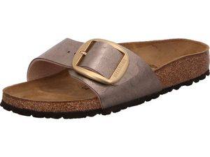Birkenstock Madrid Big Buckle Graceful Tau Damen Pantolette in Beige, Größe 36