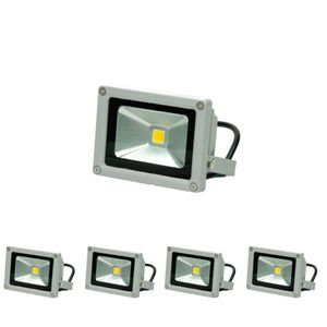 ECD Germany 4 Stück LED Flutlicht Strahler Außen 10W - 2800K WarmWeiß - Wasserdicht IP65 - Superhell - Outdoor Sicherheitsleuchte - Fluter Außenstrahler Scheinwerfür Flutlichtstrahler Baustrahler