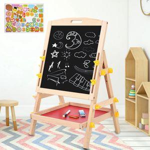 2 in1 Kindertafel Magnettafel Standtafel Schreibtafel Whiteboard Mit Großes Ablagefach Schultafel