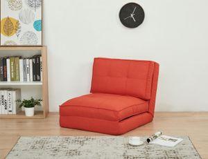 Schlafsessel Jugendsessel Gästebett Kindersessel (Stoffbezug hellrot groß)