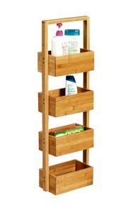 Bambus Ablageständer 4er - Aufbewahrungsgestellt für Küche oder Bad
