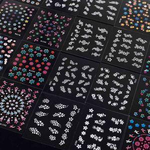 Anself 50 pcs  Nagel Kunst Sticker 3D verschidenen Farben Blumenmuster Nail Art Sticker AufkleberAbziehbilder Manicure Schöne Mode Accessoires Dekoration