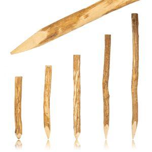 BOOGARDI Zaun-Pfosten Haselnuss 180 cm · Viele Größen · Zaun-Pfahl für Ihren Staketenzaun / Bauernzaun
