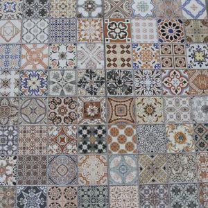 Casa Moro   Orientalische Keramikfliesen Habib 44,1 x 44,1 cm 1 qm   Marokkanische Patchwork Fliesen für schöne Küche Flur Bad & Küchenrückwand   FL6030