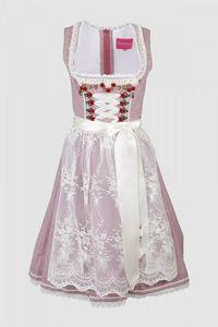 44506 Krüger Damen Dirndl Kleid Trachtenkleid NEU Größe 38 rot - ecru
