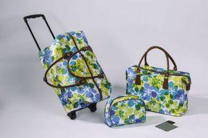 """2er Reisetaschen Set """"Weekend"""" Handgepäck Trolley + Kosmetik Beauty Case Tasche"""