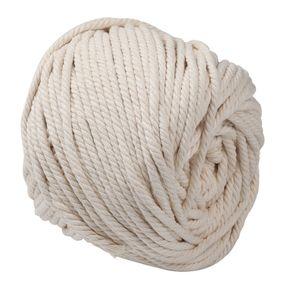 Meco 65m 5mm Baumwolle Schnur Seil Faden Garn Häkeln Makramee Baumwollschnur Rolle