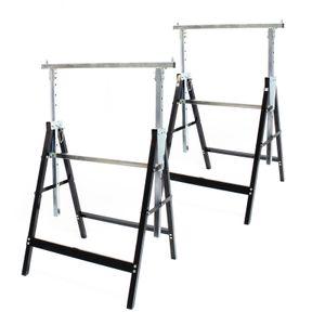 2x Gerüstbock Unterstellbock Klappbock Stützbock Arbeitsbock Höhenverstellbar