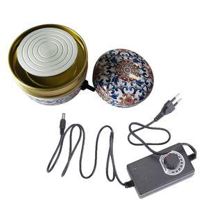 Mini Electric Pottery Wheel Tragbare Keramikmaschine mit 6 cm Turntable Clay Sculpting Wheel mit variabler Geschwindigkeit und Drehung im Uhrzeigersinn / gegen den Uhrzeigersinn fuer Erwachsene Kinder Anfaenger