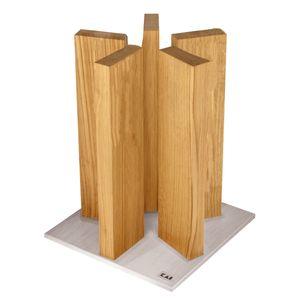 KAI STH-3 Magnet Messerblock Stonehenge, Edelstahl / Eiche, für 10 Messer, silber/natur (1 Stück)