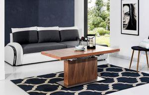 Design Couchtisch Tisch MN-7 Nussbaum / Walnuss höhenverstellbar & ausziehbar Esstisch