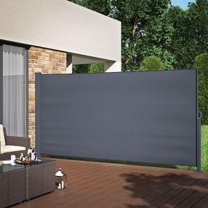 Seitenmarkise Sichtschutz 180x350cm Sonnenschutz Seitenrollo Markise Anthrazit