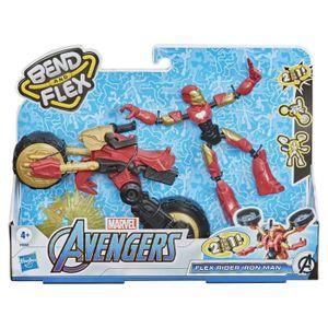 Marvel Bend and Flex, Flex Rider Iron Man mit 2-in-1 Motorrad