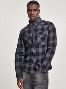 Brandit Hemd Checkshirt in Black/Charcoal-M