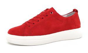 Gabor Samtchevreau Damenschuhe Halbschuhe Bequem Sneaker Rot Freizeit, Schuhgröße:EUR 41.5 | UK 7.5