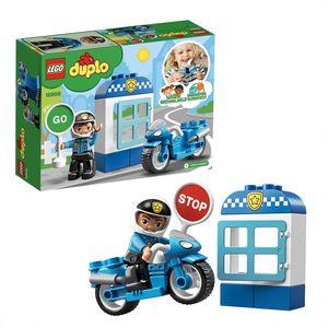 LEGO 10900 DUPLO Town Polizeimotorrad, Bauset mit Polizistenfigur, Spielzeug für Kleinkinder