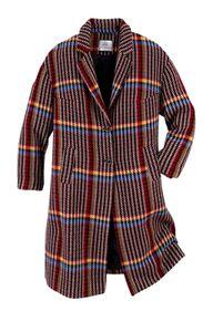 GUIDO MARIA KRETSCHMER Damen Designer-Karomantel mit Wolle, bunt, Größe:46