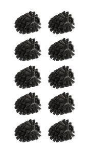 WENKO 10er Set Ersatzbürstenkopf für Toilettenbürsten, schwarz,  Ø 8 cm | zum einfachen Auswechseln