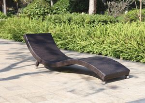 2x Garden Pleasure Sonnenliege Caracas Gartenliege Relaxliege Garten Liege Möbel