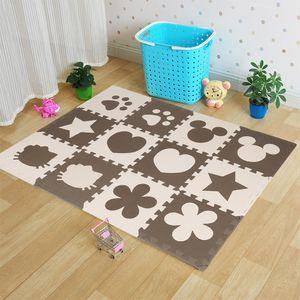 12pcs Puzzlematte Spielmatte Bodenmatte Schutzmatte Kinderteppich Krabbelmatte Mickey/Herz/Hundepfote/Blütenblatt/Pentagramm