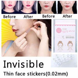 120Pcs / Set Invisible Thin Gesicht Gesicht Linie Falten schlaffe Haut Face Lift-Tape -(als Bild,)