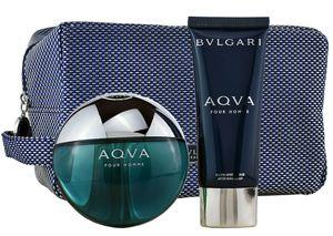Bvlgari Bulgari Aqva Aqua pour Homme Set 100 ml EDT & 100 ml ASB & Tasche