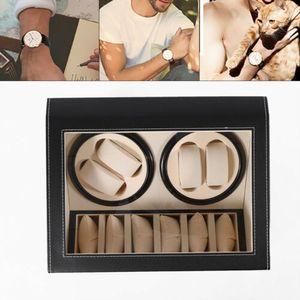 4 + 6 Automatik Uhrenbeweger Uhrenschatulle Uhrenbox Uhrenkoffer Uhrenkasten Aufbewahrungsbox Kunstleder